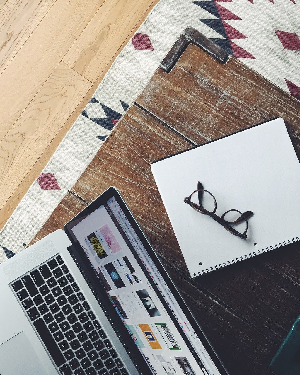 apple, eyeglasses, laptop